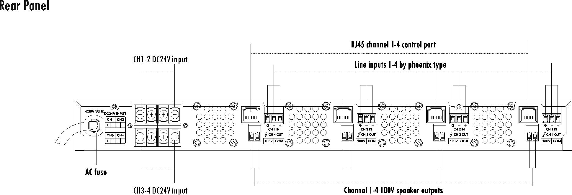 4 Channel Class D Power Amplifier T 4120d 4240d 4350d Circuit Diagram Descriptions